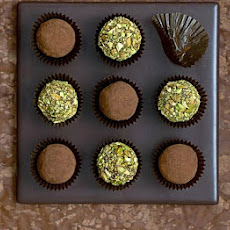Milk Chocolate & Pistachio Truffles