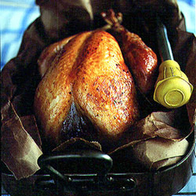 Roast Turkey with Corn Bread Dressing