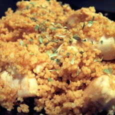 Super Quick Orange Chicken with Couscous