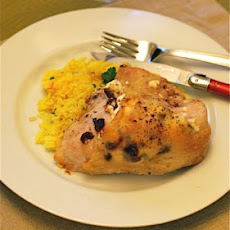Baked Cranberry Goat Cheese Stuffed Chicken