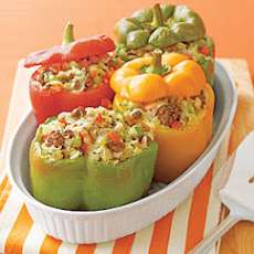 Beef-and-Rice-Stuffed Peppers