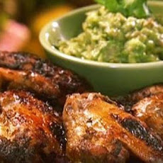 Lime Marinated Chicken Wings with Avocado Dip