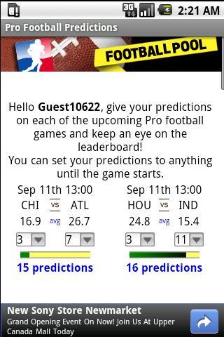 Pro Football Predictions