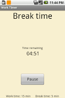 Screenshot of Get-it-Done Timer Lite