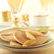 Spiced Pancakes With Apple Topping
