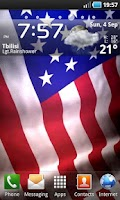 Screenshot of Animated American Flag LWP