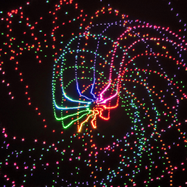 Tic.........tack, toe ! by Jim Barton - Abstract Patterns ( laser light, light design, colorful, tic tack toe, laser design, tic, laser, laser light show, light, science )