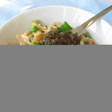 Kimchi and Green Onion Fried Rice with Chive Spoon Sauce
