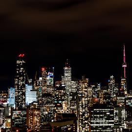 Toronto Downtown by Vanko Dimitrov - City,  Street & Park  Night