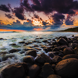 Rocky Beach of Selabih by Budi Astawa - Landscapes Beaches ( bali, selabih, beach, tabanan )