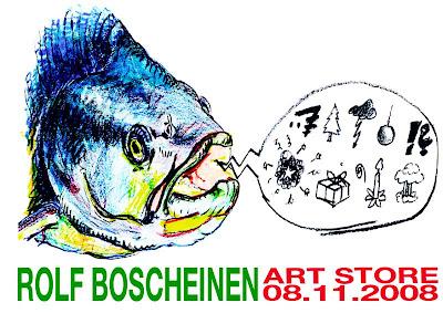 Einladung/Invitation: Neues von Rolf Boscheinen im Art Store St.Pauli - Art Store: Wohlwillstraße 10 in Hamburg St. Pauli - Am 8.11. ab 20 Uhr im ArtStore St.Pauli