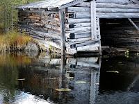 En tidig bild på båthuset