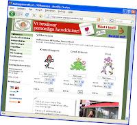 Såhär såg Anitas hemsida ut när den öppnades för alla...
