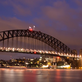 Sydney Harbour Bridge by Andrew Ooi - Buildings & Architecture Bridges & Suspended Structures ( night photography, long exposure, bridges, dusk, sydney )