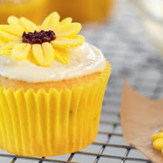 Orange, Buttermilk And Sunflower Cupcakes