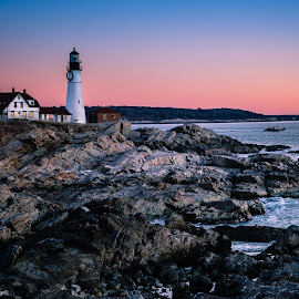 Portland Light by David Long - Buildings & Architecture Public & Historical ( maine, lighthouses, portland light )