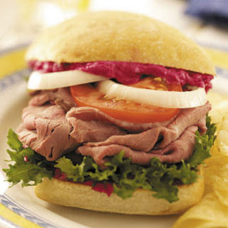 Beef Sandwiches with Beet Spread