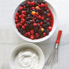Mascerated Berries with Vanilla Cream