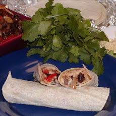 Mushroom and Black Bean Burritos