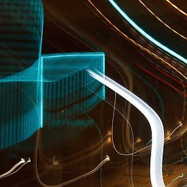 The lights are on by Miranda Luyckx - Abstract Light Painting ( light painting, roeselare, night )