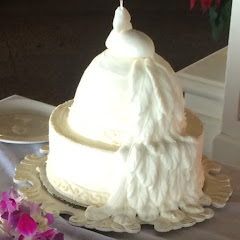 White Peacock Bridal Brunch Cake- Carrot and Coconut layers with cream cheese!