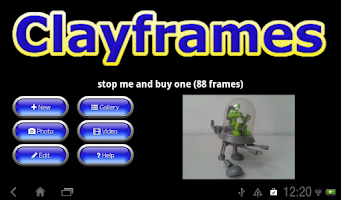 Screenshot of Clayframes - stop motion