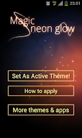 Screenshot of Magic Neon Glow GO Launcher
