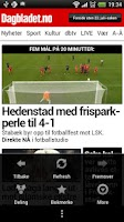 Screenshot of Dagbladet.no
