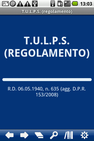 IT TULPS Regolamento
