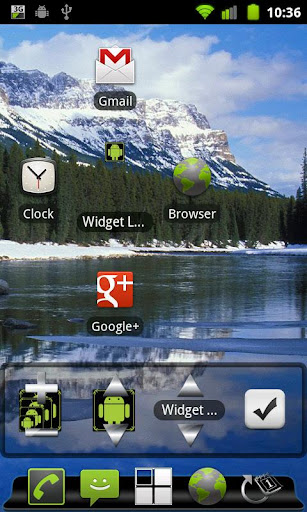 Launcher Widget Sizing