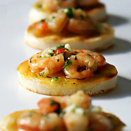 shrimps on toast by Alka Smile - Food & Drink Meats & Cheeses (  )