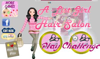 Screenshot of A-List Girl: Hair Salon ★