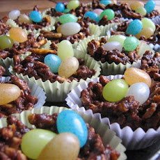 Easter Nests With Jelly Bean Eggs, Peanut Free