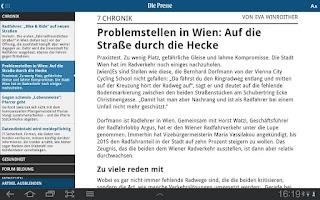 Screenshot of Die Presse