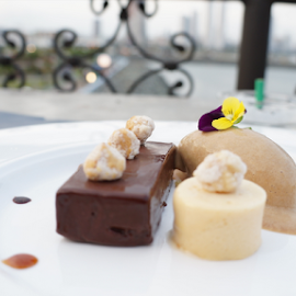 Dessert at Captiol Bistro Panama  by Brandi  Rhone  - Food & Drink Plated Food ( work, panama, plated, chocolate, food, ice cream, travel, dessert )