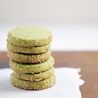 Matcha Almond Shortbread