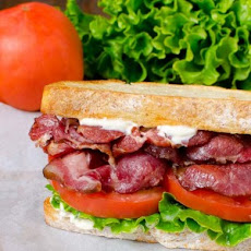 Pork Collar BLT Sandwich