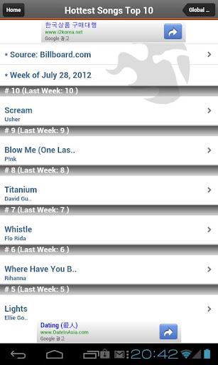 玩免費音樂APP|下載Global Music Billboard -MV&MP3 app不用錢|硬是要APP