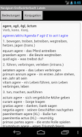 Screenshot of Latein-Deutsch Großwörterbuch