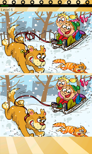 Find ten differences winter - screenshot