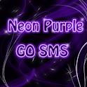 Neon Purple Style GO SMS PRO icon