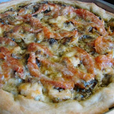 Pesto Chicken or Shrimp Pizza