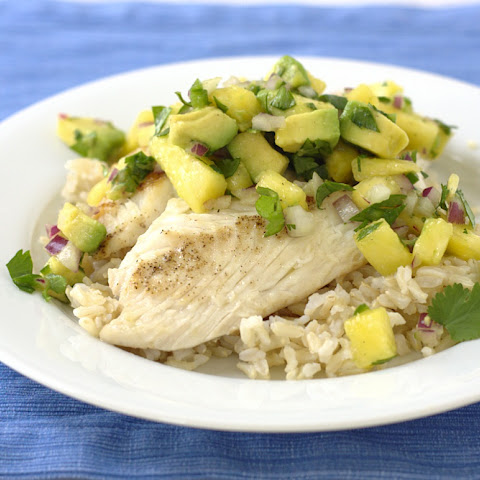 Tilapia with Avocado-Pineapple Salsa