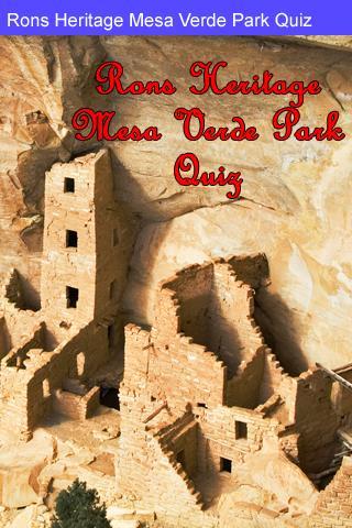 Rons Mesa Verde Park Quiz