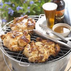 Spatchcocked Poussin With Beer And Ginger Marinade