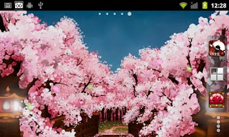 Screenshot of Sakura's Bridge Live Wallpaper