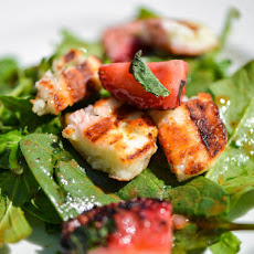 Grilled Strawberry and Halloumi Salad with Balsamic Vinaigrette