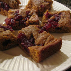 Cranberry Swirl Pumpkin Bars