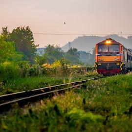 HUa Hin  by Teck Keong Chu - Transportation Trains