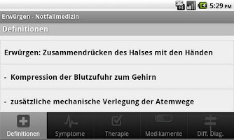 Screenshot of Notfallmedizin
